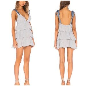 NWT PRIVACY PLEASE REVOLVE | Ruffle Tiered Dress L